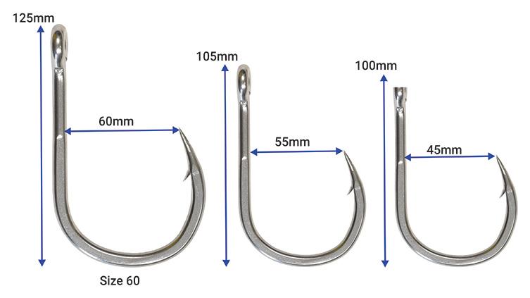Trolling Hooks. Pack of 4 Hooks Pakula Dojo Heavy Tackle Hooks Size 35